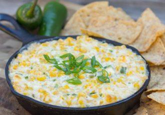 Ντιπ καλαμποκιού και λαχανικών (Corn creamy dip)-featured_image