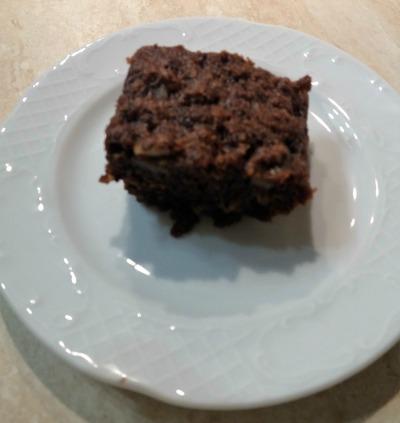 Καρυδόπιτα με γκανάζ σοκολάτας, της Ελπίδας Μυζιθράκη