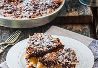 γλυκιά στριφτόπιτα με σοκολάτα και βανίλια συνταγη