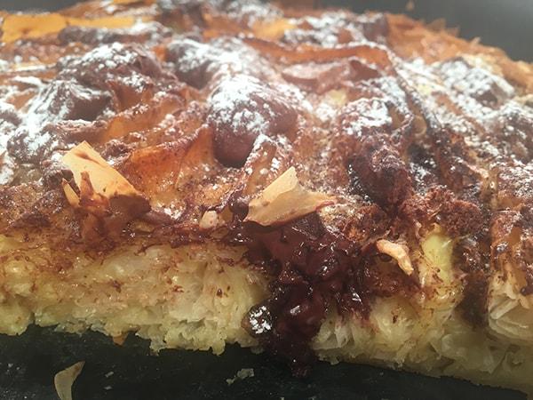 Στριφτόπιτα γλυκιά με σοκολάτα, πραλίνα και βανίλια-featured_image