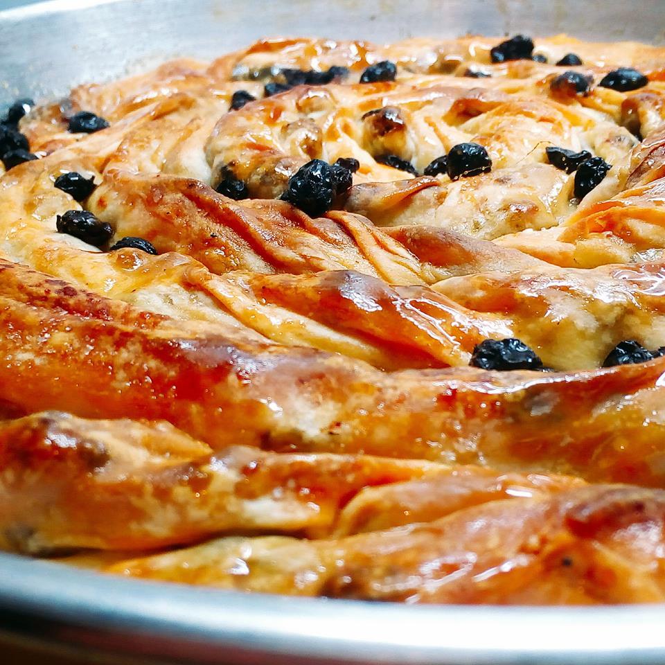 Πίτα με σταφίδες και μέλι, της Ελπίδας Χαραλαμπίδου (elpidas little corner)