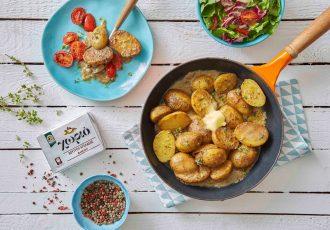 πατάτες βουτύρου στο τηγάνι