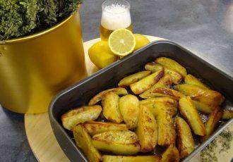 πατάτες φούρνου με μπύρα συνταγη