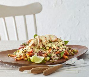 Σαλάτα με καστανό ρύζι και κοτόπουλο-featured_image