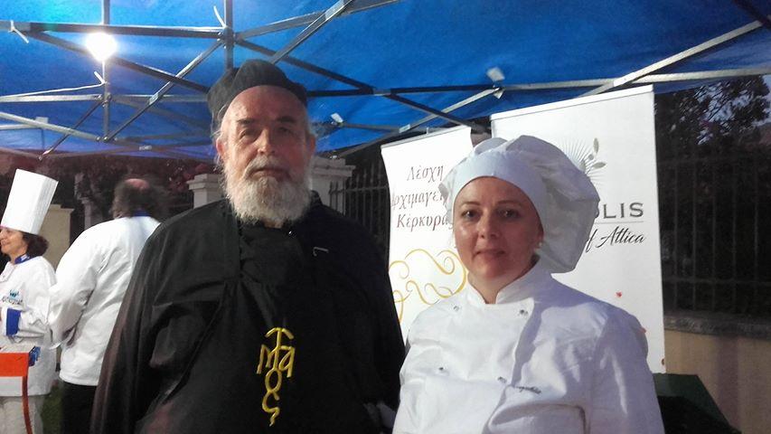 Στο φετινό Φεστιβάλ Λευκαδίτικης Γαστρονομίας συμμετείχε ο Μοναχός του Αγίου Όρους και μέλος της Λέσχης Αρχιμαγείρων Βορείου Ελλάδος Πάτερ Επιφάνιος, ο οποίος έλαβε μέρος στις μαγειρικές επιδείξεις και παρουσίασε 2 πιάτα: κριθαροτό με θαλασσινά και εκτέλεση αγιορείτικης συνταγής με μπακαλιάρο, καθώς και το μέλος της Λέσχης μας Καλόγηρος Δημήτριος, ο οποίος με τη βοήθεια των σπουδαστών του Δημόσιου ΙΕΚ Λευκάδας