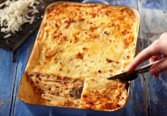 εύκολο παστίτσιο ριγκατόνι ζυμαρικα συνταγη