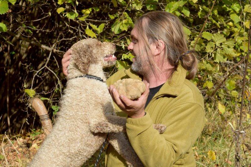 Ένα πανάκριβο μανιτάρι, μία λευκή τρούφα, βάρους 510 γραμμαρίων, ανακάλυψε ένας συλλέκτης τρούφας με τον ειδικά εκπαιδευμένο σκύλο του στα Μετέωρα.