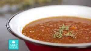 φακές σούπα κοκκινες κοκκινιστες συνταγη