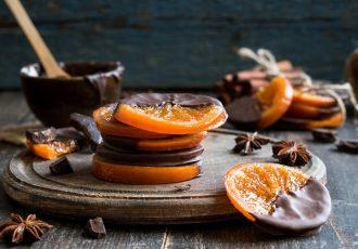φέτες πορτοκαλιού με σοκολάτα ροδελες πορτοκαλι με κουβερτουρα γλυκο πορτοκαλια συνταγη αργυρω