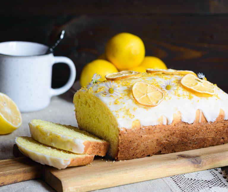 Κέικ λεμόνι με σιρόπι