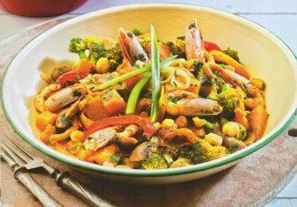 γαρίδες κάρυ με λαχανικά συνταγη σάλτσα κάρυ