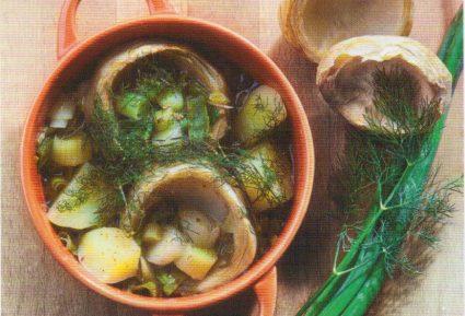 Αγκινάρες λεμονάτες με πατάτες-featured_image