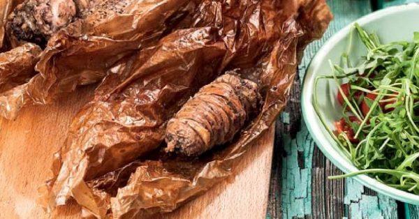 Γαρδούμπα στο φούρνο στη λαδόκολλα