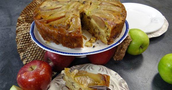 αναποδογυριστή μηλόπιτα ανάποδη με καραμελωμένα μηλα ευκολη συνταγη αργυρω