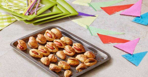 λουκανικοπιτάκια τυροπιτάκια σοκολατοπιτάκια συνταγές για παιδιά μενου για παιδικο πάρτυ
