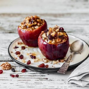 μήλα ψητά στο φούρνο ολοκληρα συνταγη αργυρω