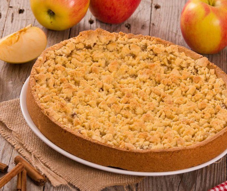Μηλόπιτα τριφτή (apple crumble)