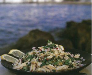 σαλατούρι με σαλάχι ψαροσαλάτα