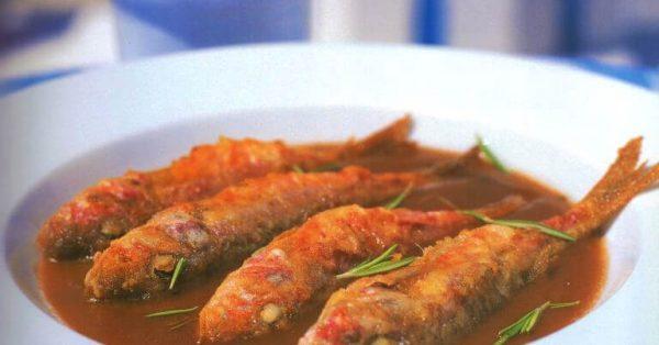 γόπες και μπαρμπούνια σαβόρο τηγανητά ψάρια συνταγη αργυρω μπαρμπαριγου argiro