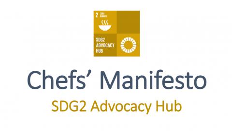 Μανιφέστο των σεφ και πρόγραμμα δράσης για την υποστήριξη της βιώσιμης ανάπτυξης- SDG