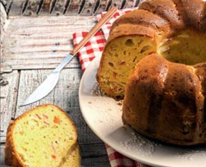 Ζαμπονοτυρόπιτα κέικ
