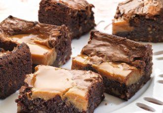 μπράουνις με καραμέλα brownies συνταγη