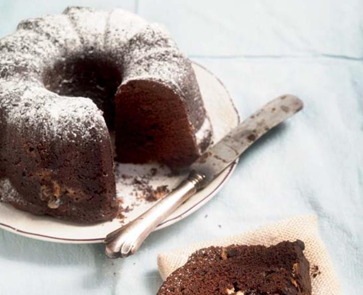 Κέικ κακάο με λευκή σοκολάτα