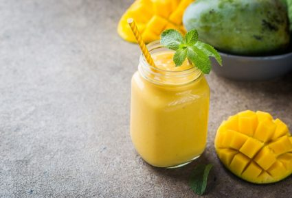 Smoothie μπανάνα και μάνγκο-featured_image