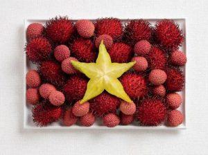 Του Βιετνάμ, με ραμπουτάν, λίτσι και starfruit