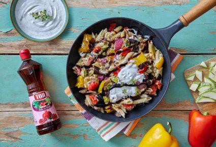 Πένες με λαχανικά και κρέμα φέτας-featured_image