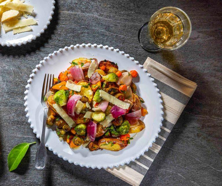 Χειμωνιάτικα ψητά λαχανικά στη λαδόκολλα
