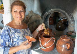 ρεβυθάδα Σίφνου σε πήλινο γάστρα στο φούρνο παραδοσιακη συνταγη αργυρω