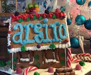 γλασο για gingerbread house Χριστουγεννιάτικο μπισκοτόσπιτο σπιτακι