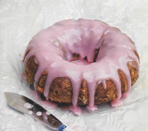 κέικ σαγκουίνι με ροζ γλασο συνταγη