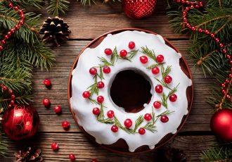 χριστουγεννιάτικο κέικ gingerbread συνταγη