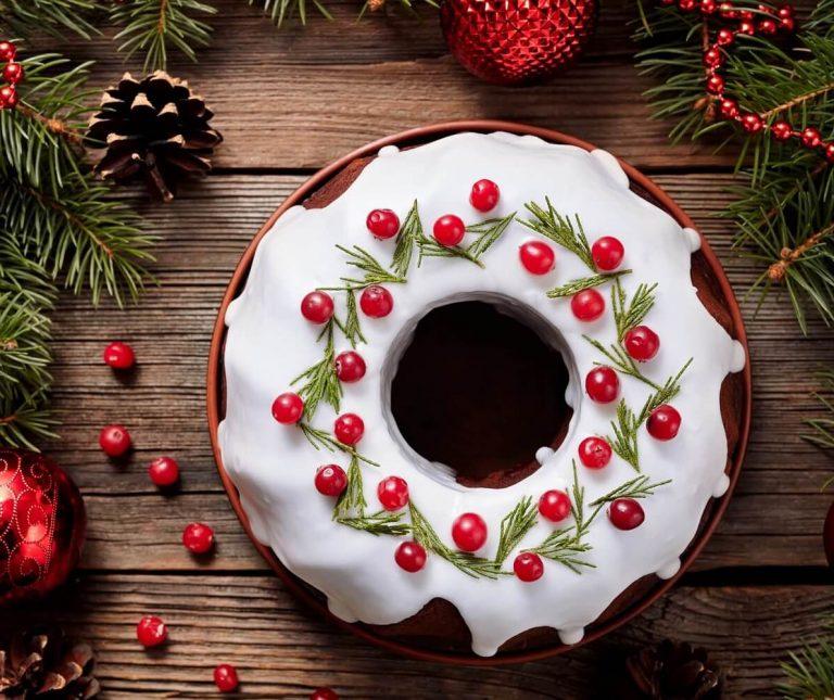 Χριστουγεννιάτικο κέικ Gingerbread