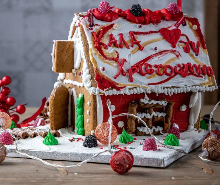 Χριστουγεννιάτικο μπισκοτόσπιτο (Gingerbread house)