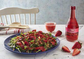 σαλάτα με φράουλες και σως φράουλας