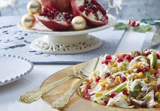 χριστουγεννιάτικη σαλάτα με λάχανο και ρόδι συνταγη γιορτινο τραπεζι αργυρω