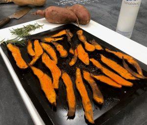 τραγανα τσιπς γλυκοπατάτας πατατάκια από γλυκοπατάτες