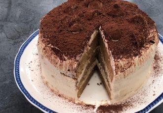 τούρτα τιραμισού παντεσπάνι συνταγη