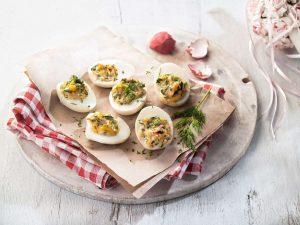 αυγά γεμιστά με μαγιονέζα συνταγη