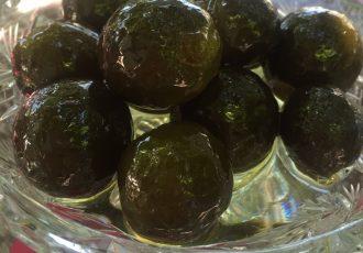 πράσινο νεράντζι γλυκό του κουταλιού νεραντζακι