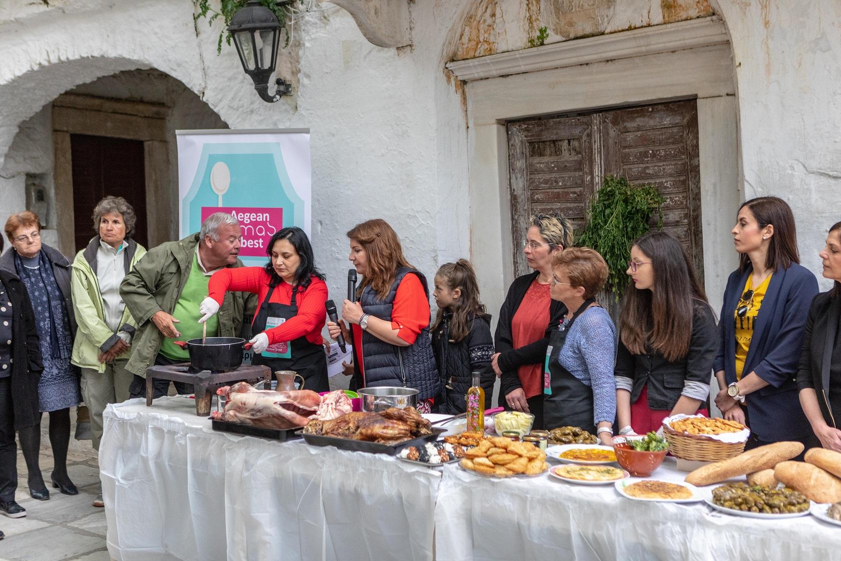 Εκ μέρους της Λέσχης Αρχιμαγείρων Δωδεκανήσου και Κυκλάδων συμμετείχε ο σεφ Στέλιος Κορρές, υποστήριξε την εκδήλωση με την ομάδα του «Korres catering».