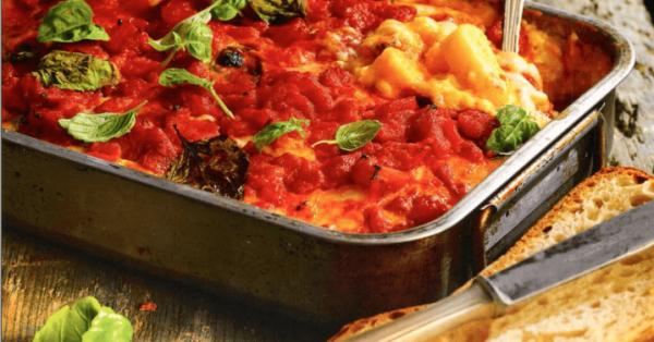 ιταλικά λαζάνια στο φούρνο φούρνου 4 τυριά πολέντα αυθεντική ιταλική συνταγή