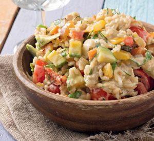 ρυζοσαλάτα με λαχανικά και γιαούρτι συνταγη