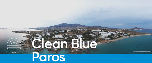 Clean Blue Paros παρος δραση για τα πλαστικα στη θαλασσα