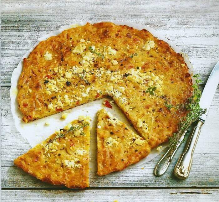 Μπατζίνα με τυρί