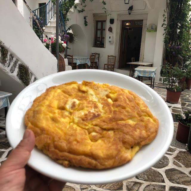 Ομελέτα με τυρί (Μανουρομελέτα Νάξου)