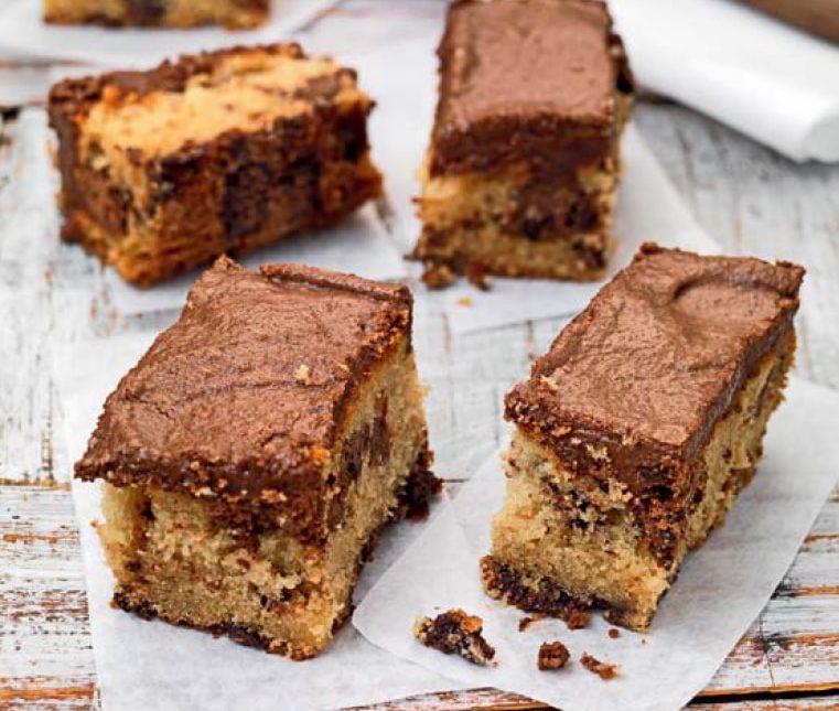 Παστάκια κέικ βανίλια σοκολάτα